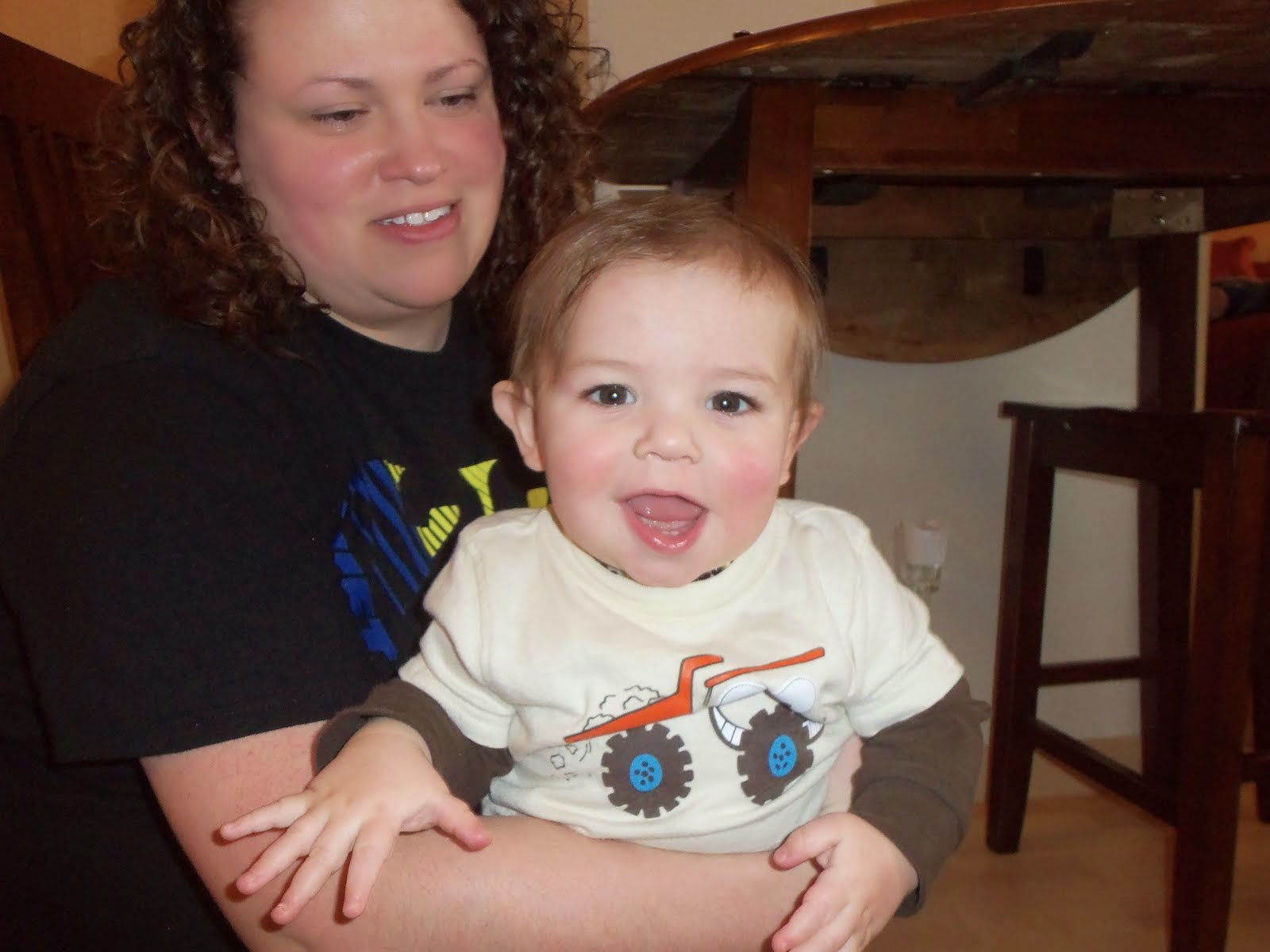 Third grandson Tate and his mommy Janelle