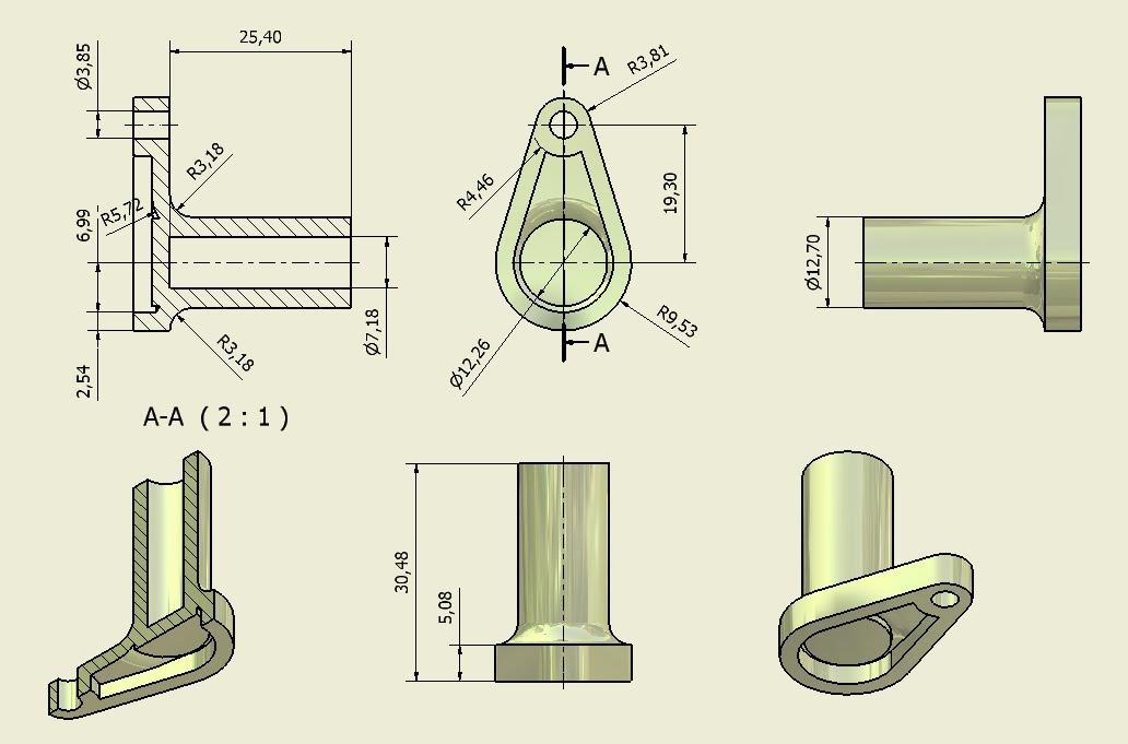 Secciones cortes y roturas cortes definici n tipos for Plano de planta dibujo tecnico