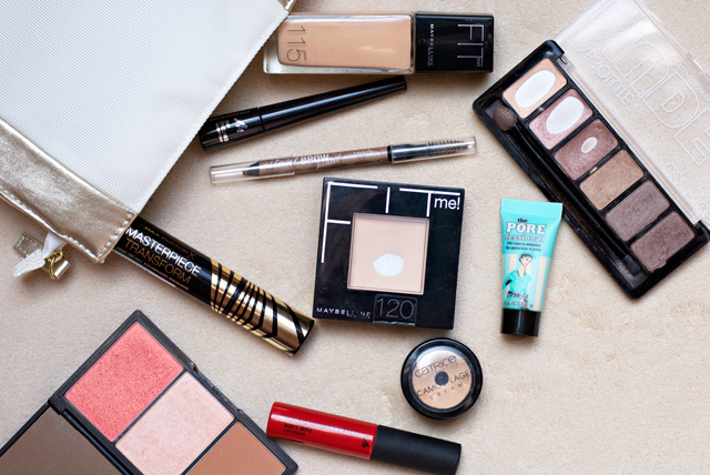 go-to favourite beauty staples Maybelline Catrice Benefit