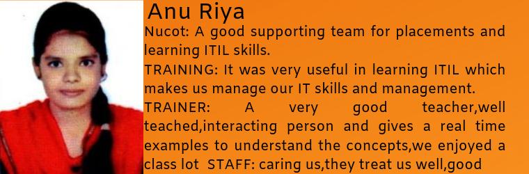 Anu Riya- Testimonial / Review About Nucot