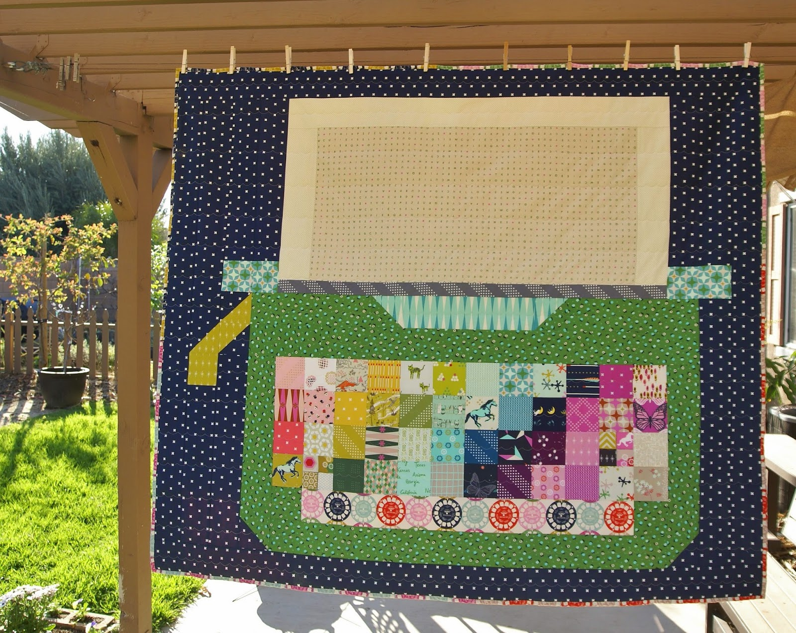 Cotton + Steel Typewriter Quilt by Heidi Staples of Fabric Mutt