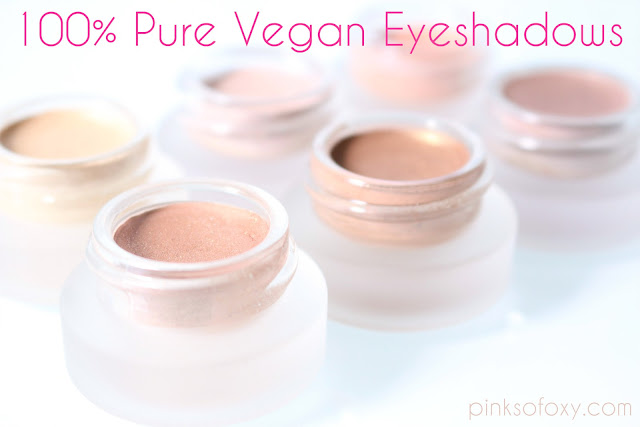100 Percent Pure Vegan Eyeshadows