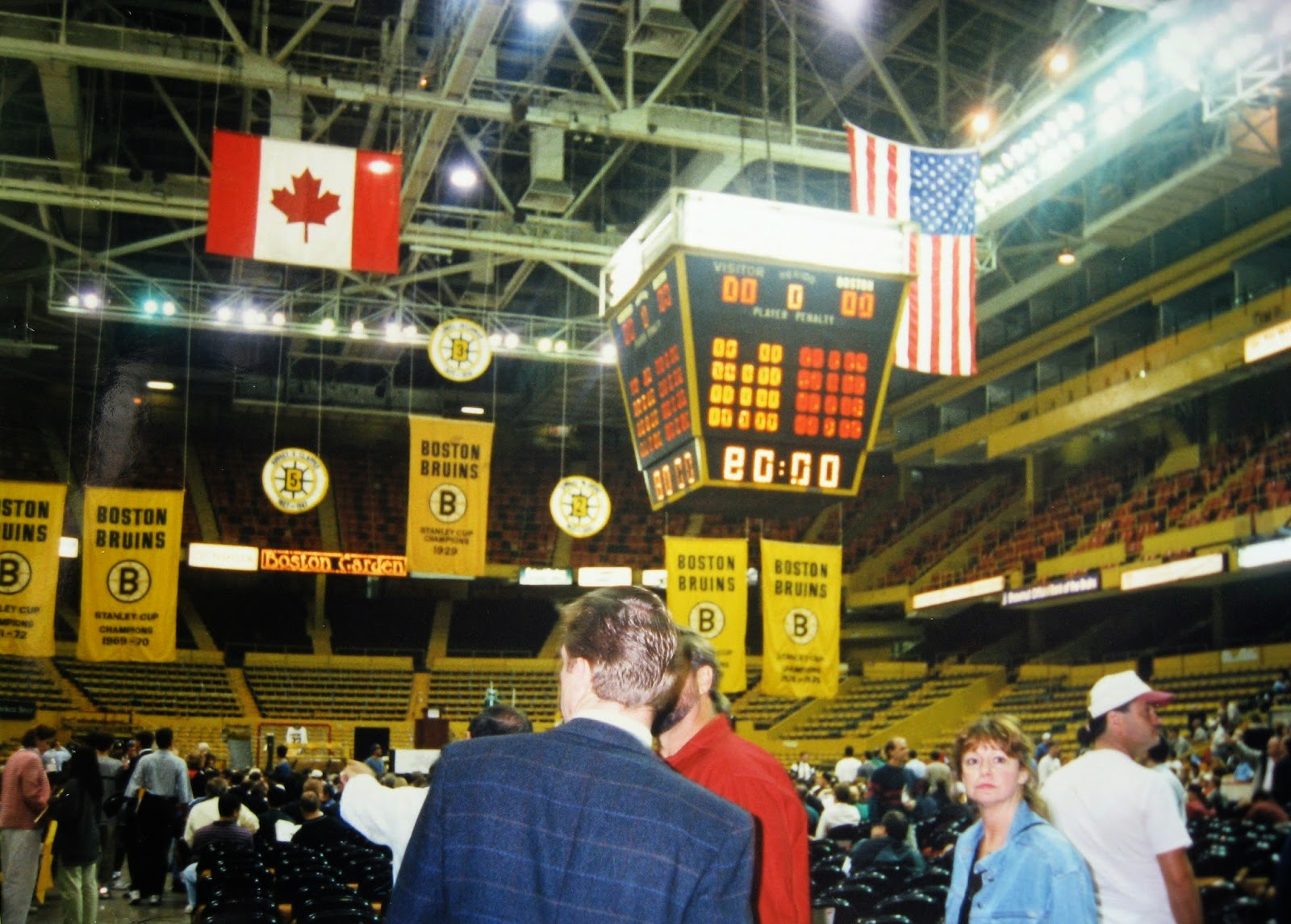 The old Boston Garden on auction day 1996