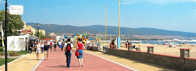Promenade in Sunny Beach Bulgaria