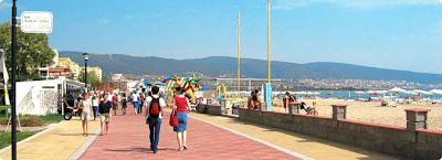 Promenade in Sunny Beach Bulgaria