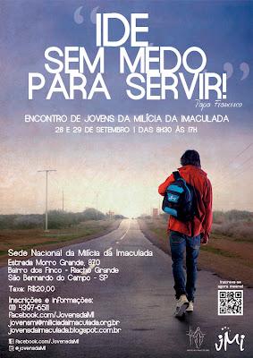 """Encontro de Jovens da Milícia da Imaculada - """"Ide, sem medo para servir"""""""