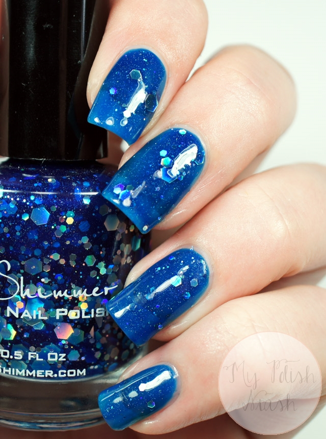 blue jelly glitter nail polish