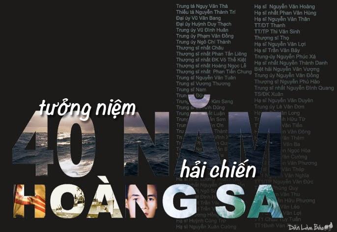 Tưởng niệm 40 năm hải chiến Hoàng Sa (Danlambaovn.blogspot.com)