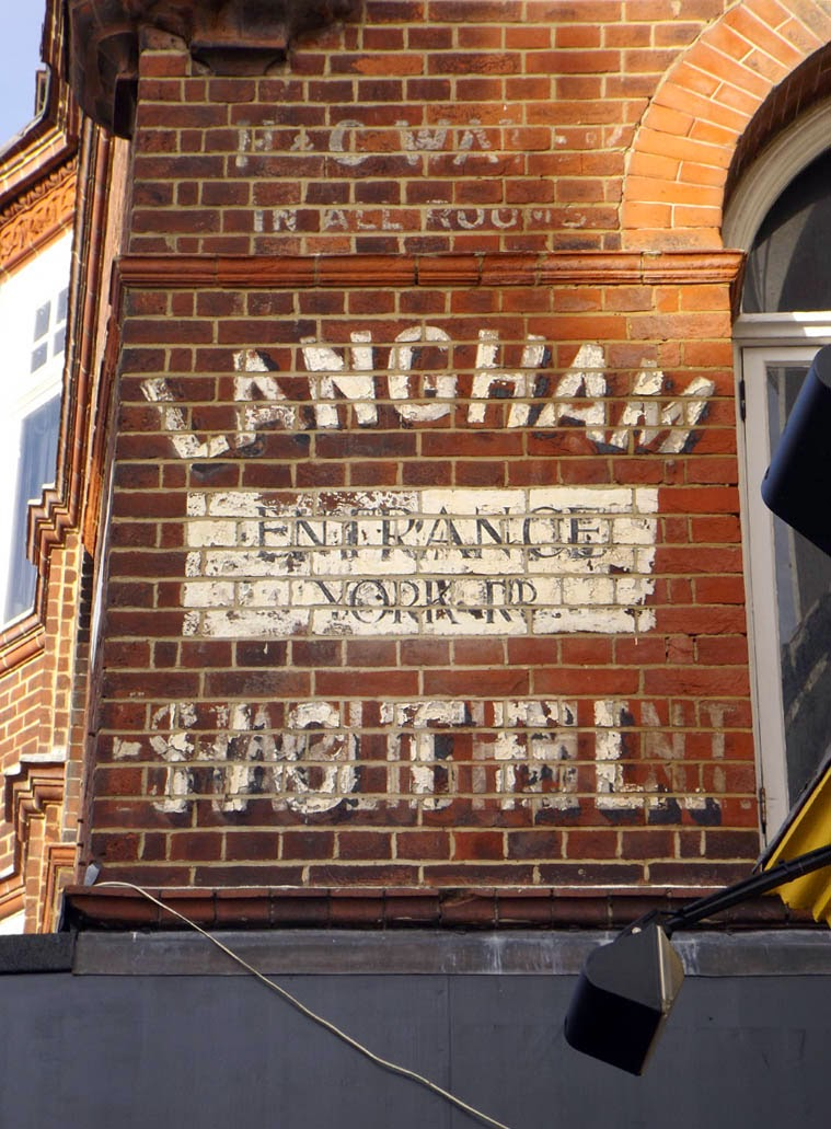 langham hotel brighton old painted sign
