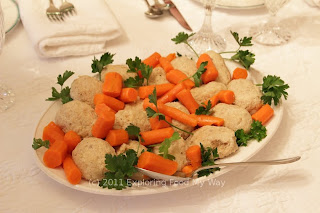 Gefilte Fish with Carrots and Parsley