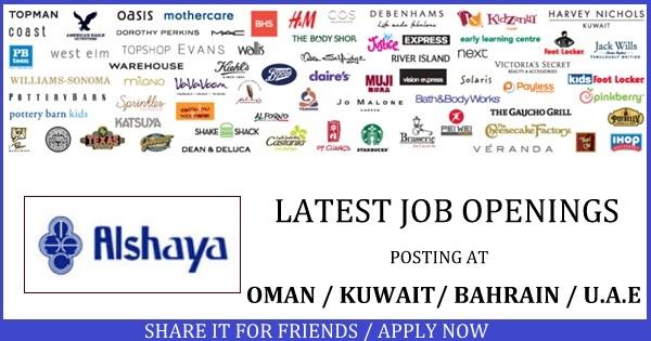 ALSHAYA Latest Job Openings - Gulf Job Vacancies