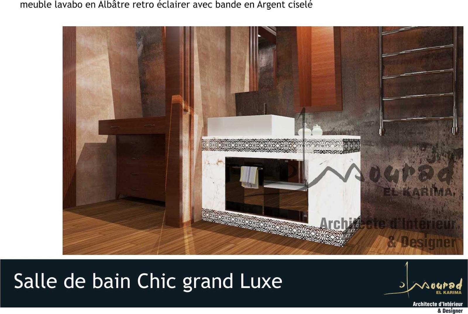 Salle de bain chic grand luxe mourad el karima for Salle bain chic