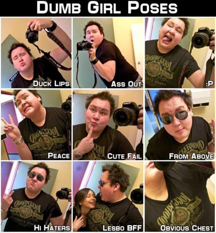 Dumb Poses Girls Make On Facebook