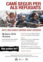 Acte solidari: Camí segur pels refugiats