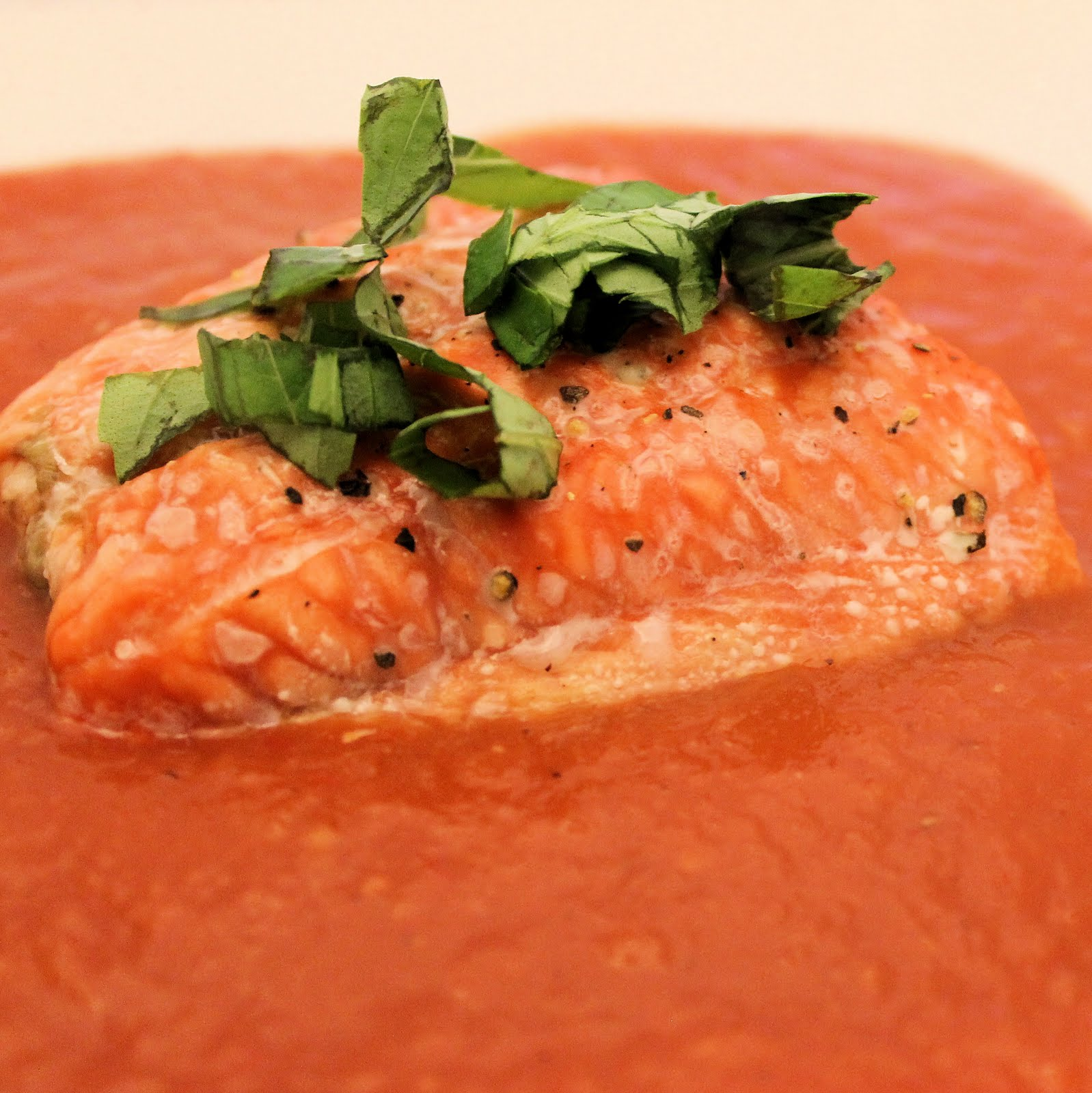 Broiled salmon with roasted tomato sauce i can cook that broiled salmon with roasted tomato sauce ccuart Choice Image