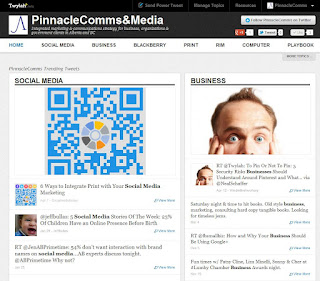 Pinnacle Communications Twylah webpage screen shot