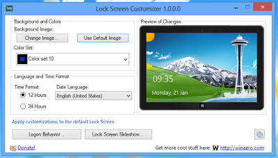 Change Color Set Wallpapers On Windows 8 Lock Screen