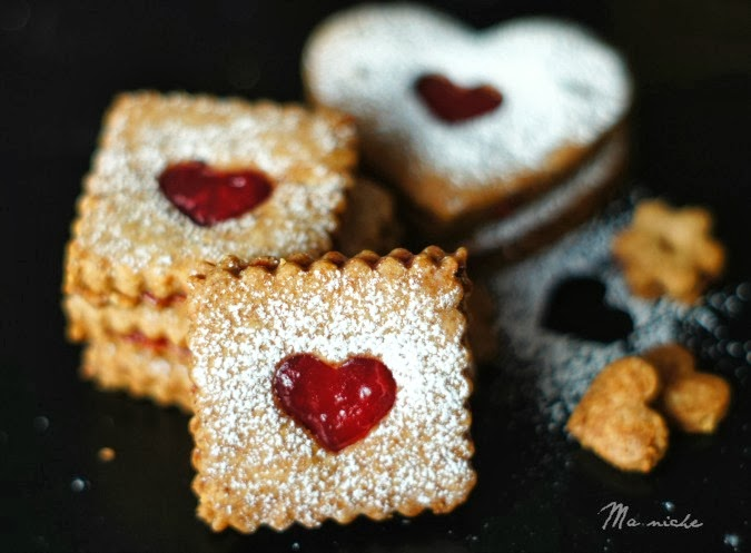 Linzer Heart Cookies Recipe — Dishmaps