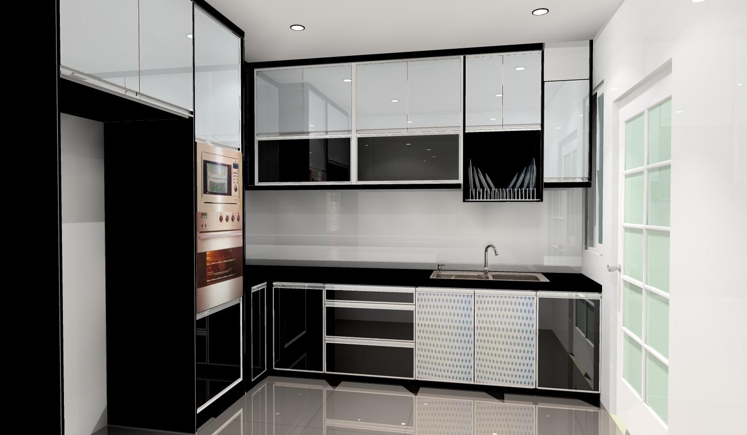 Ceritera Cinta Kehidupan Kitchen Cabinet Lukisan 3d