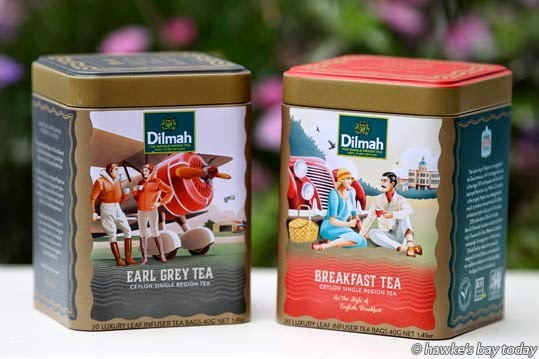Merrill Fernando from Dilmah has produced some specially branded Dilmah teas for Art Deco Week, for sale at the Art Deco Shop, Napier. photograph