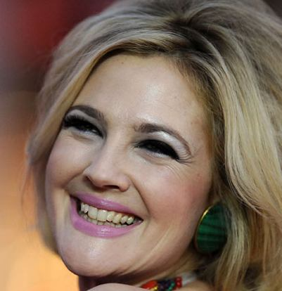 yellow teeth, dentes amarelos, makeup, maquilhagem, drew barrymore