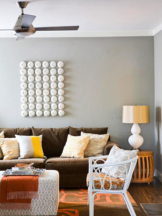 New Home Interior Design: Gray Color Schemes