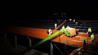 Mounting Solar Panels at Night in Germany