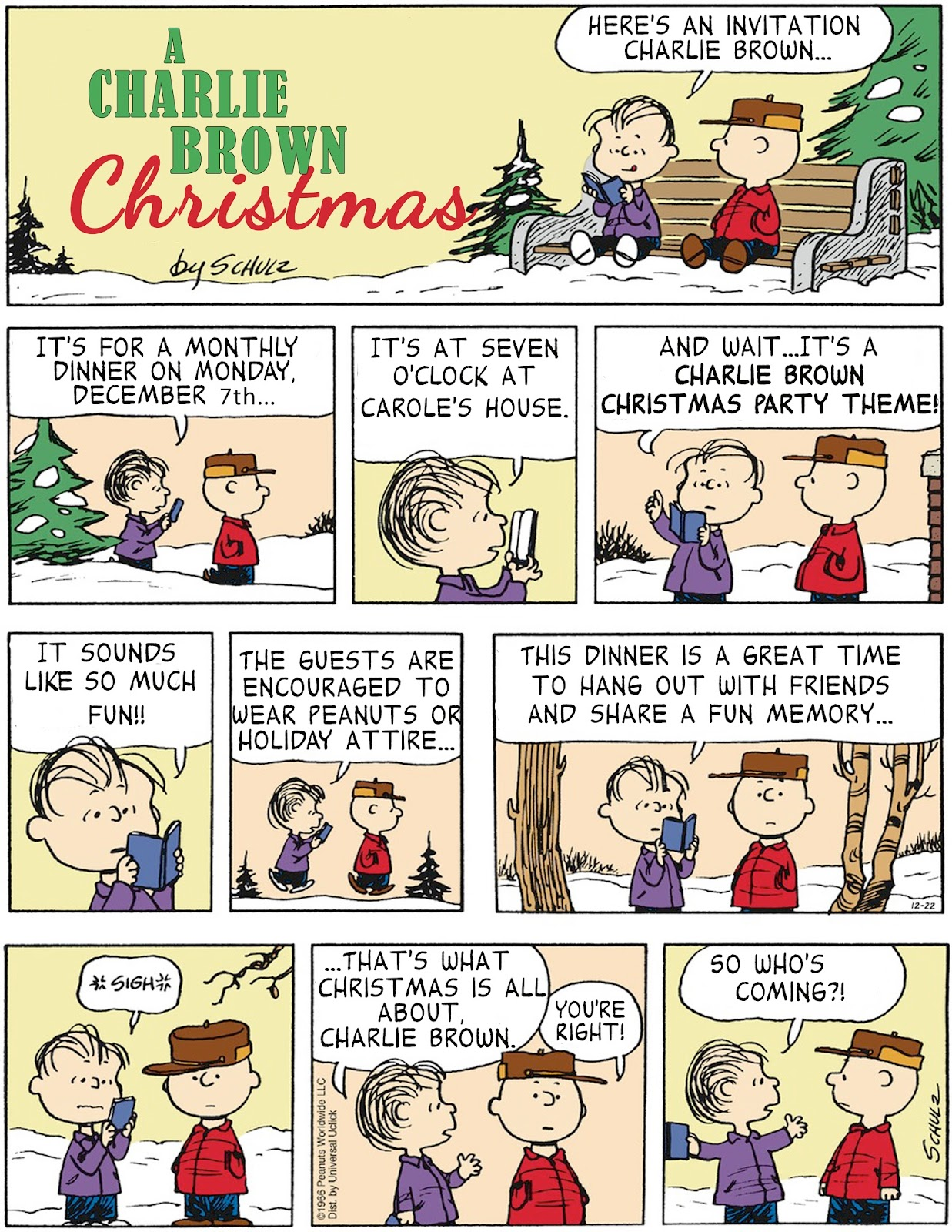 Invite and Delight: Charlie Brown Christmas Party