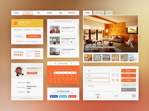 Real Estate Booking UI Kit PSD