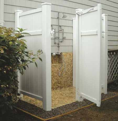 Various Kinds Of Outside Shower Enclosures Outdoor
