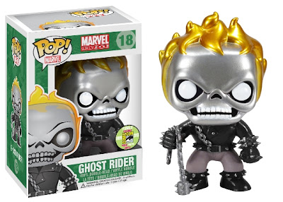 San Diego Comic-Con 2013 Exclusive Metallic Ghost Rider Marvel Pop! Vinyl Figure by Funko