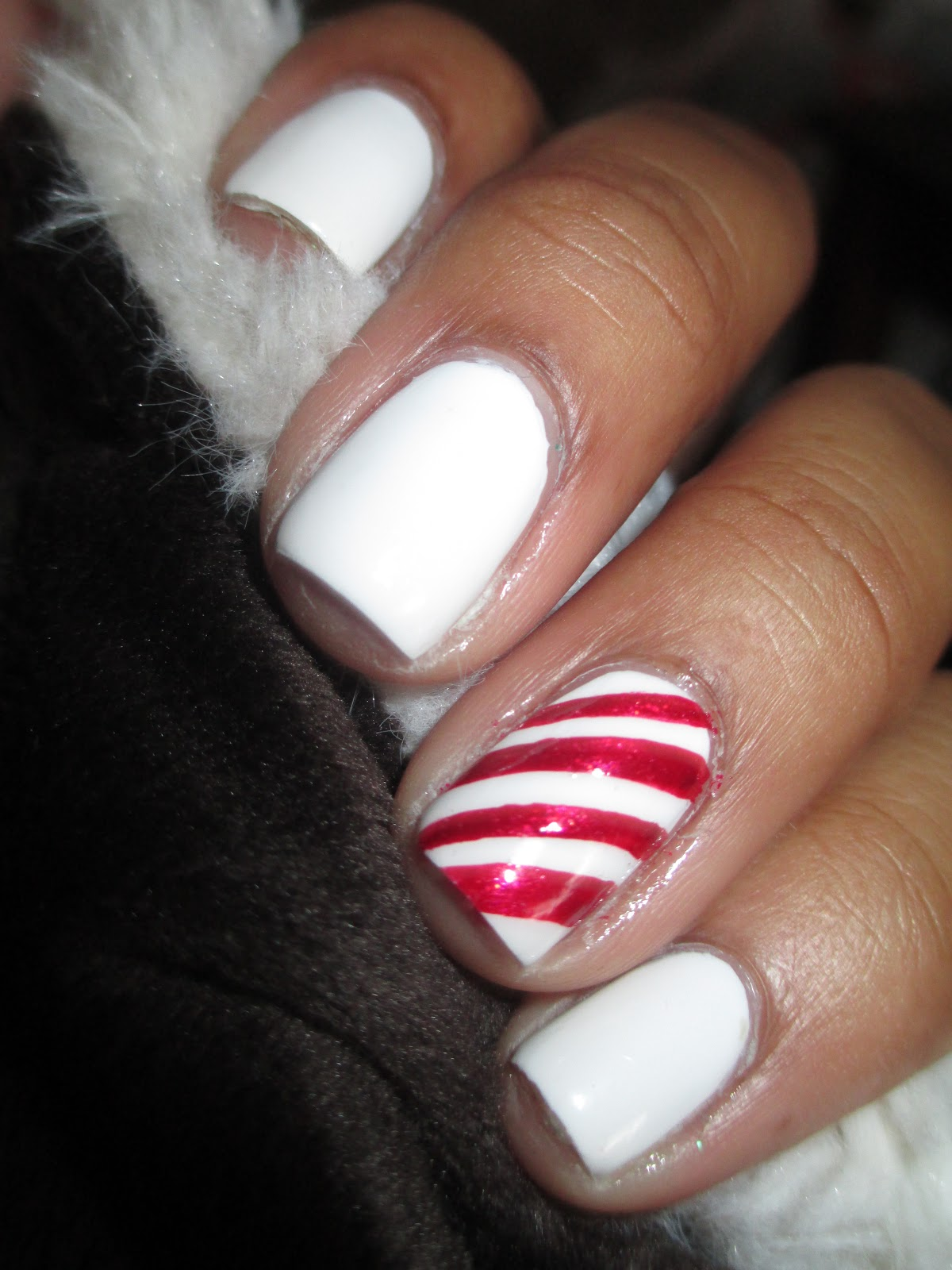 Fairly charming 12 manis of christmas 7 candy canes christmas candy cane nails nail art nail design mani prinsesfo Image collections