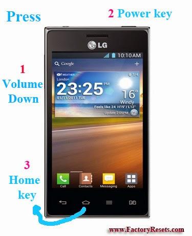 Hard Reset LG Optimus L5 Dual E615