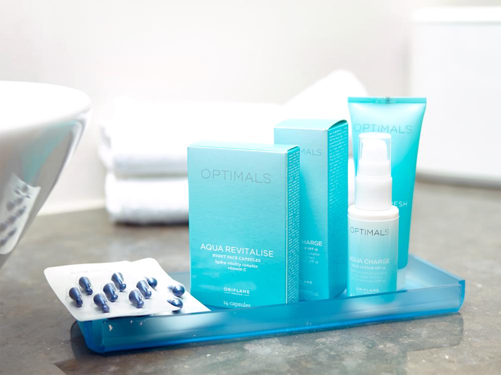 Optimals Aqua para uma Pele Fresca e Revitalizada