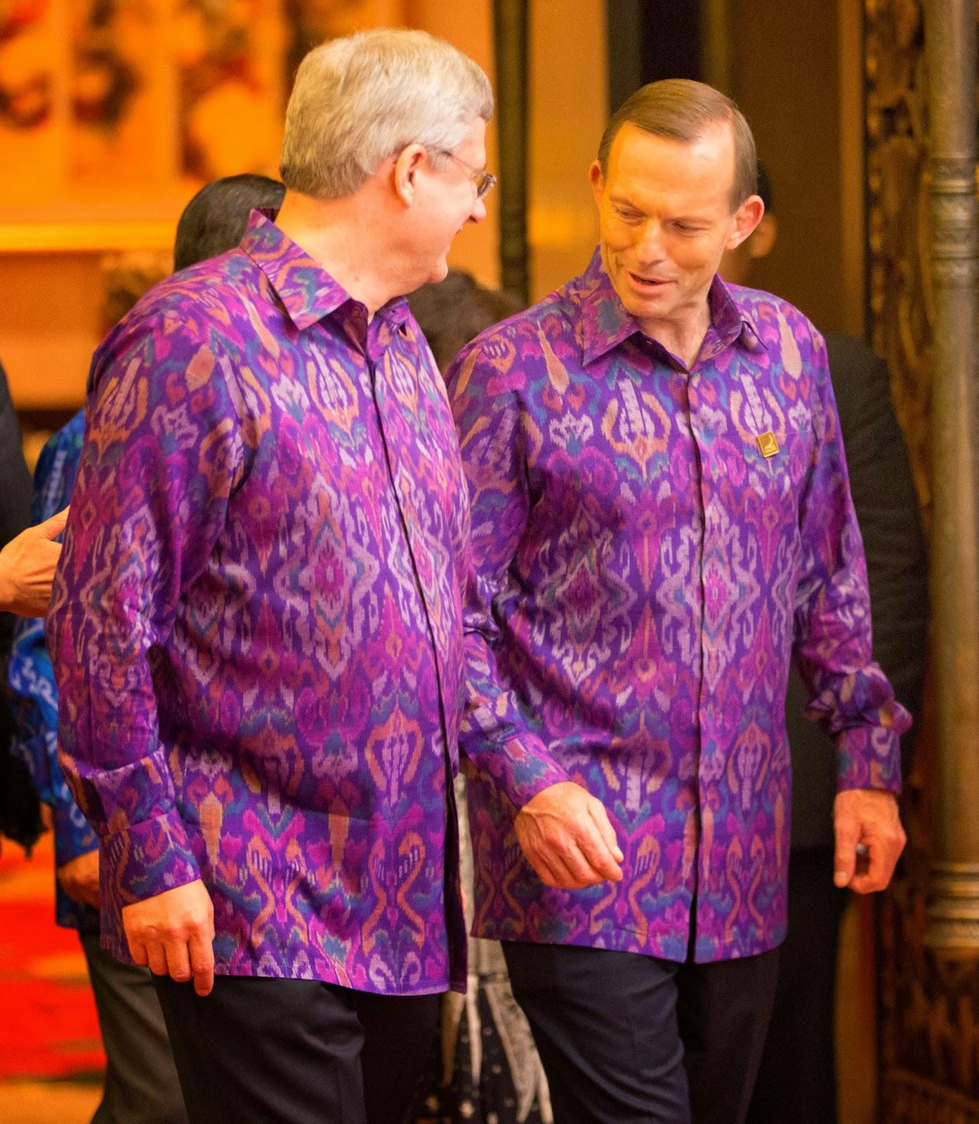 Stephen Harper & Tony Abbott, APEC Bali 13-10.