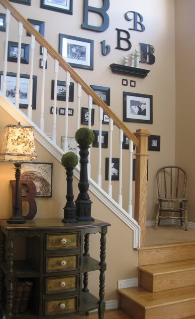 Staircase wall decor on pinterest decorating staircase stairways and picture walls - Decorate stairway wall ...