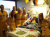 Peyton and The Hawkeye Cheer Team