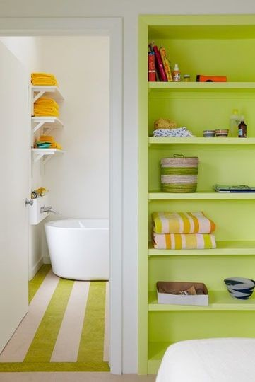 To da loos neon bathrooms yellow and lime for Yellow and green bathroom ideas