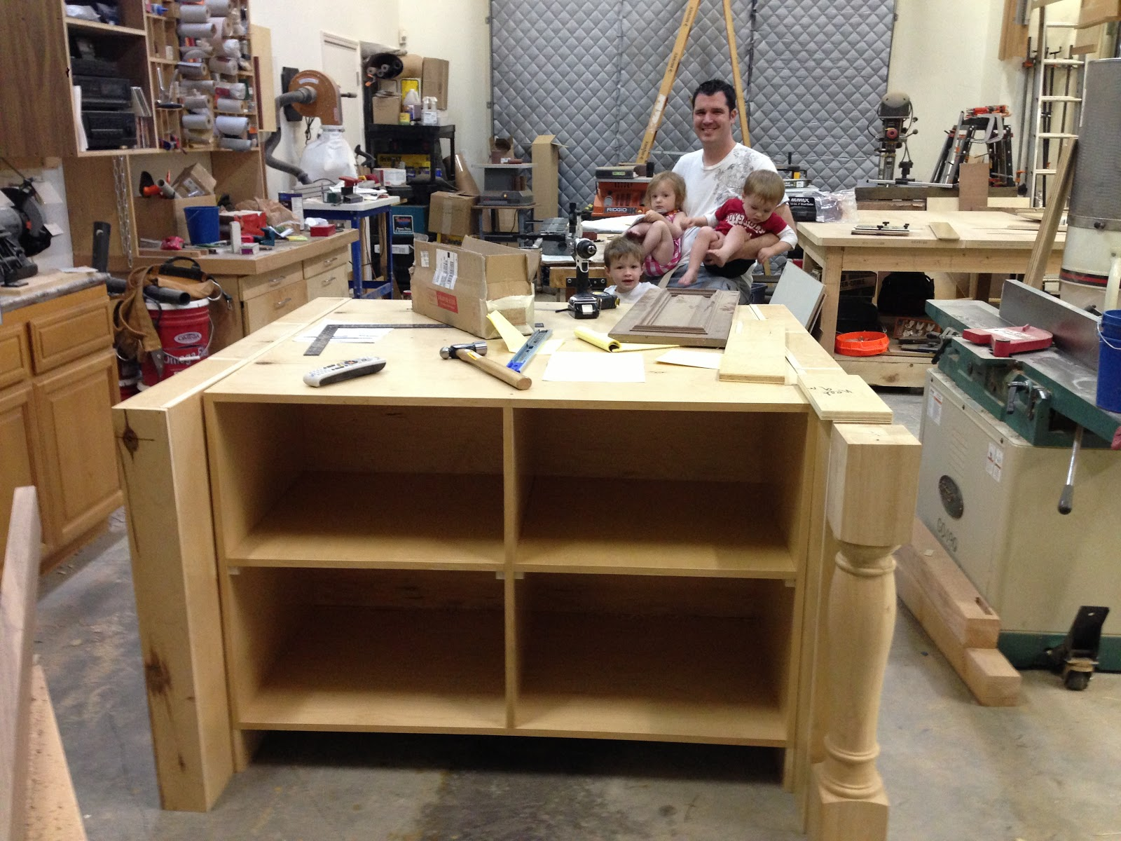 the howard bunch: building our house - a kitchen island