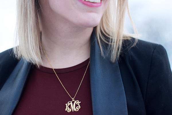 Gold monogram necklace MyNameNecklace