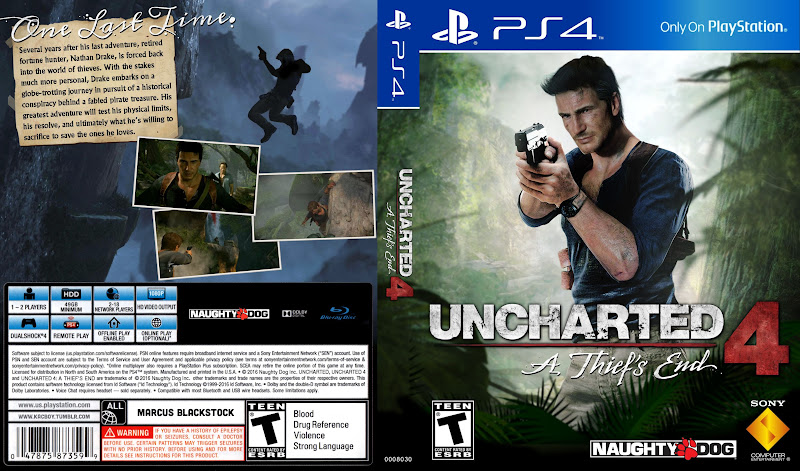 Capa Uncharted 4 A Thiefs End PS4