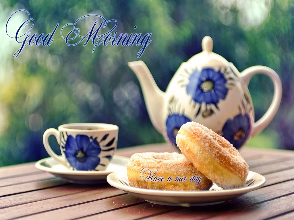 Good Morning Tea With Breakfast : Hot tea with breakfast images for good morning festival