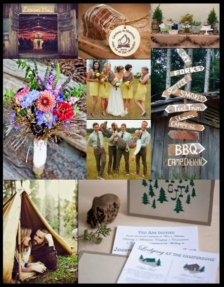 Prom Dress Camp Wedding Inspiration For Outdoorsy Couples