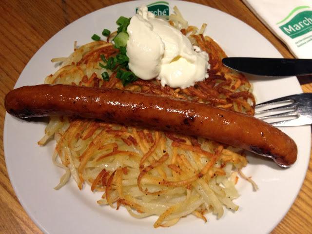 Rösti with Chicken Sausage - Marche Restaurant