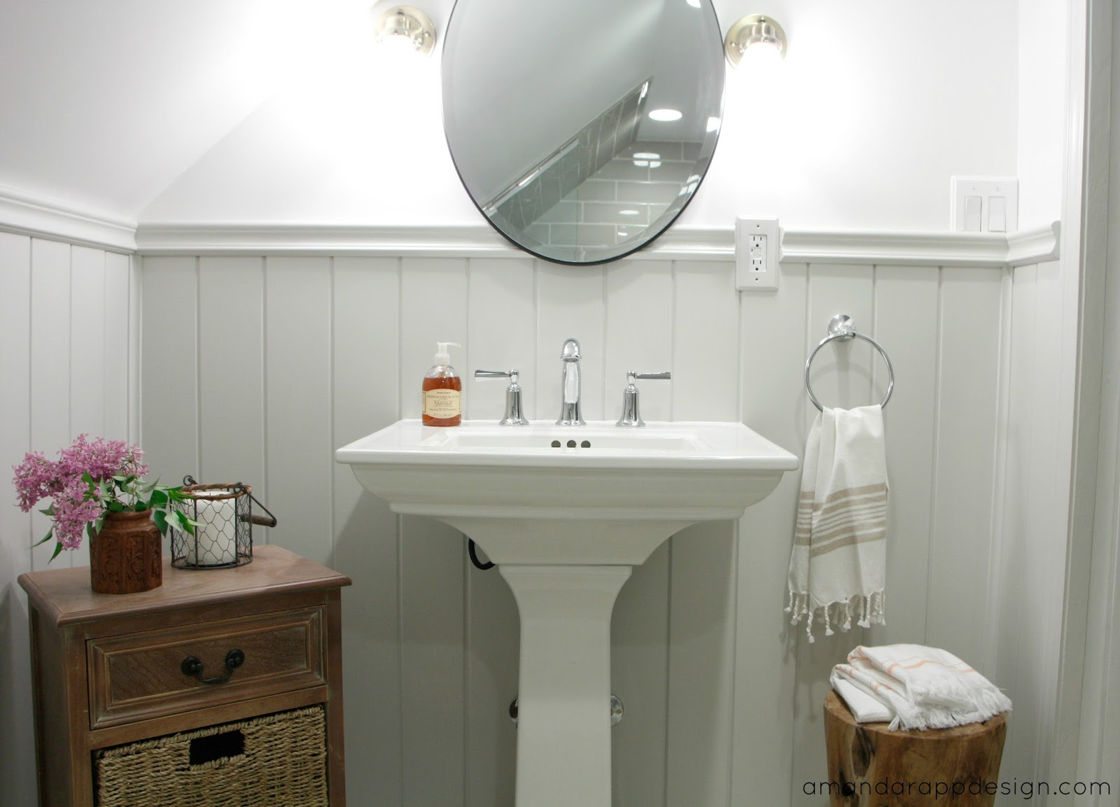 Amanda Rapp Design: Finished Classic Cottagey Bathroom
