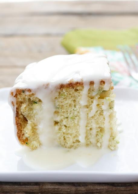 Zucchini Snack Cake with Orange Glaze - get the recipe at barefeetinthekitchen.com