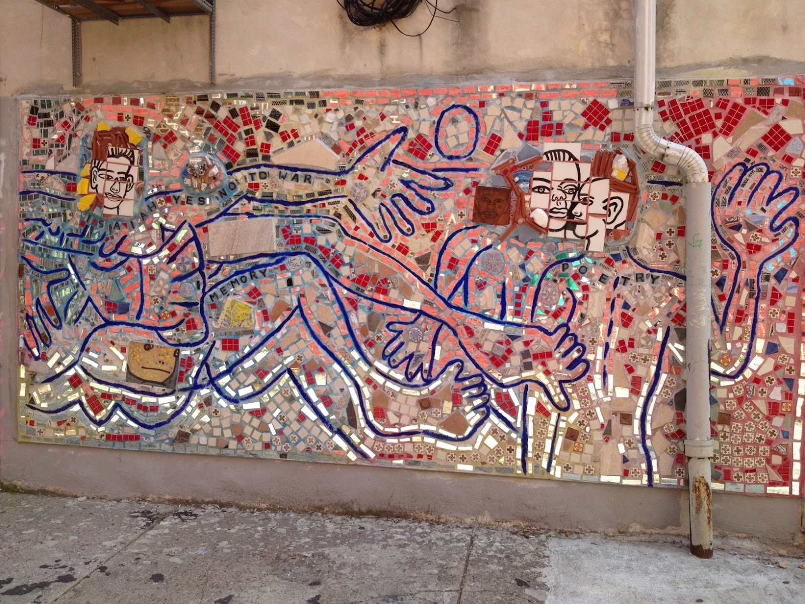 Dancing tortuga murals for Broken glass mural