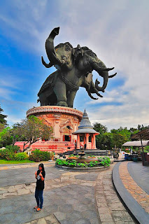 Estatua Elefante de 3 cabezas Samut Prakan