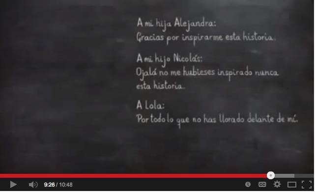 """VIDEO COMPLETO DEL CORTO """"CUERDAS"""", GANADOR DEL GOYA AL"""
