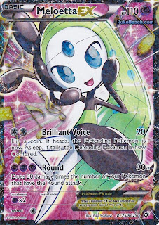 Meloetta EX Full Art Legendary Treasures Pokemon Card